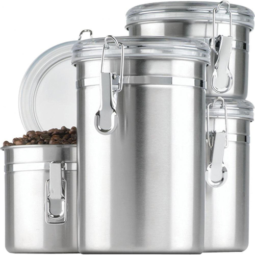 Anchor Hocking SS Canister Set w/ Clear Lids