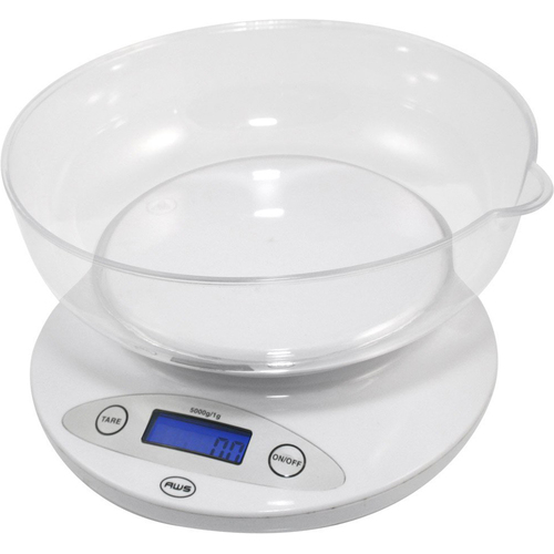 American Weigh Scales Bowl Kitchen Scale White