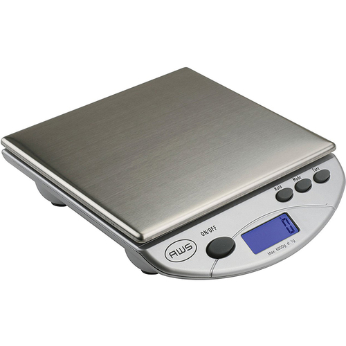 American Weigh Scales Digital Postal Kitchen Scale in Silver - AMW13-SL