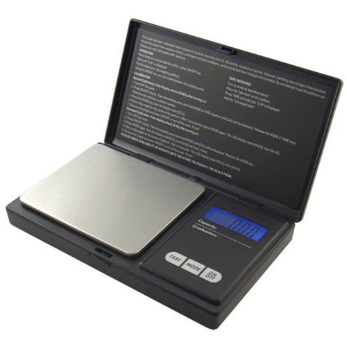 American Weigh Scales Digital Pocket Scale Black