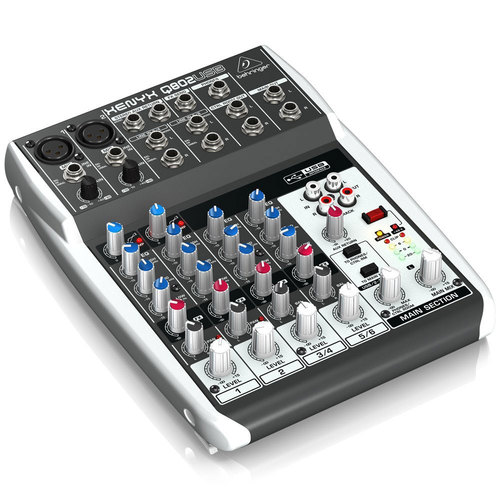 XENYX Q802USB 8-Input 2-Bus Mixer & USB/Audio Interface