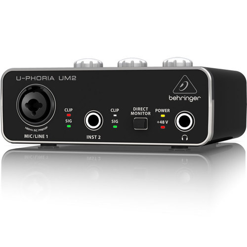 U-PHORIA UM2 Audiophile 2x2 USB Audio Interface & Mic PreAmp