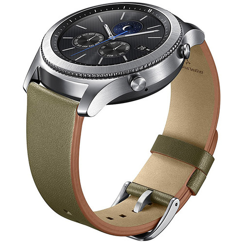 Samsung Gear S3 Classic Leather Band for Gear S3 Classic & Frontier Watch - Olive Green