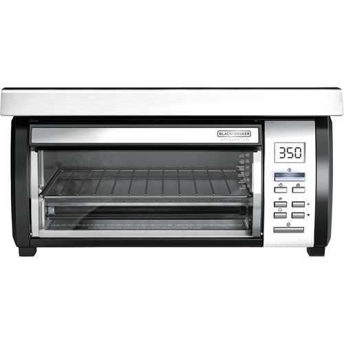 Black & Decker Spacemaker Under-Counter Toaster Oven, Black/Stainless Steel, TROS1000D
