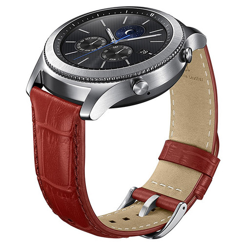 Samsung Gear S3 Alligator Grain Band for Gear S3 Classic & Frontier Watch - Red