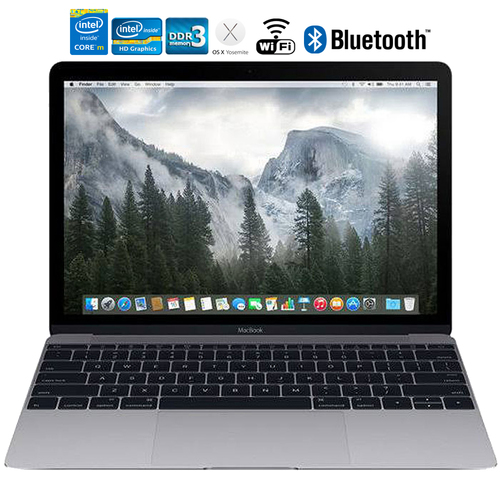 Apple MacBook MJY42LL/A 12` Laptop with Retina Display 512GB, Space Gray - Refurbished