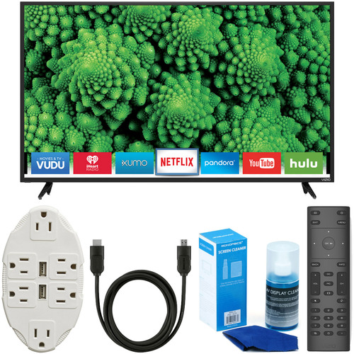 Vizio D55f-E2 D-Series 55` Full Array LED Smart TV + USB Wall Outlet & Accessory Kit