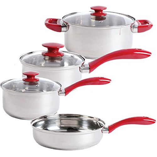 Gibson SB Crawford SS Cookware Red7pc