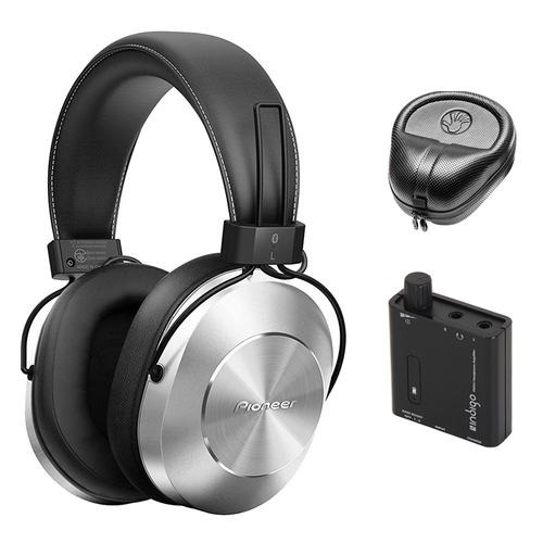 Pioneer Stereo Wireless Bluetooth Over-Ear Headphones w/ Amplifier Bundle