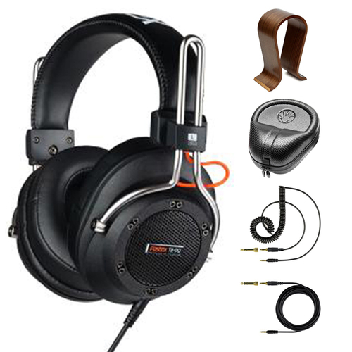 Fostex Semi-Open Professional Dynamic Headphones 250 Ohm with Stand Bundle