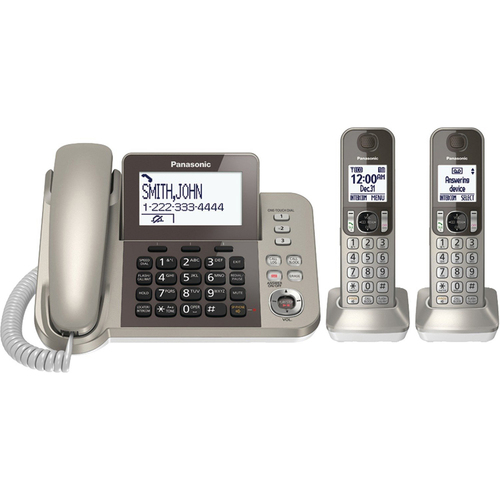Panasonic Corded Phone with 2 Cordless Handsets - KX-TGF352N