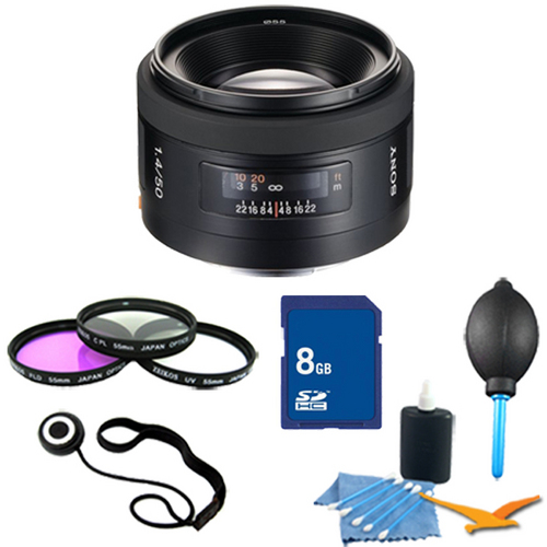 Sony SAL50F14 - 50mm f/1.4 Standard A-Mount Lens Essentials Kit