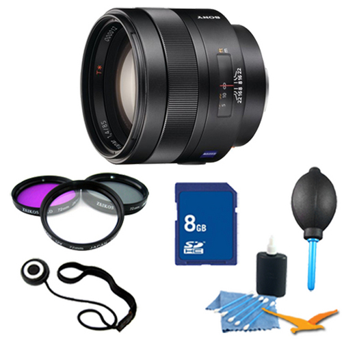 Sony SAL85F14Z - Carl Zeiss Planar T 85mm f1.4 Telephoto Lens Essentials Kit