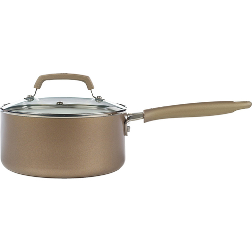 T-Fal  Pure Living 3-Quart Sauce Pan in Champagne - C9442474