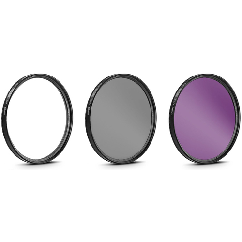 58mm UV, Polarizer & FLD Deluxe Filter kit (set of 3 + carrying case)