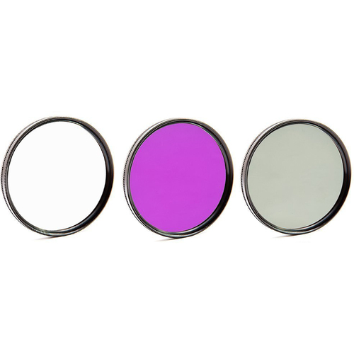 General Brand 55mm UV Polarizer and FLD Deluxe Filter kit (set of 3 carrying case)