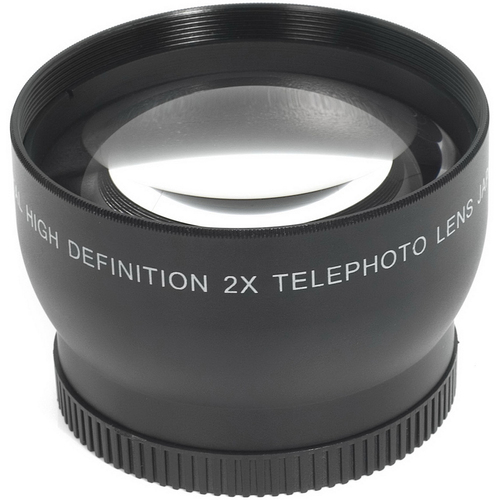General Brand 58mm High Definition Pro 2x Telephoto Conversion Lens (Black)