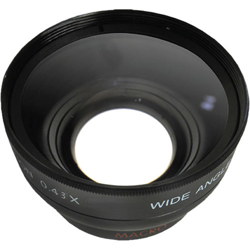 General Brand Pro .43x Wide Angle Lens w/ Macro 52mm threading (Black)