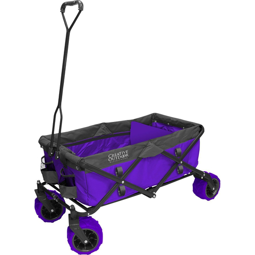 Distributor All-Terrain Folding Wagon in Purple and Grey - 900256