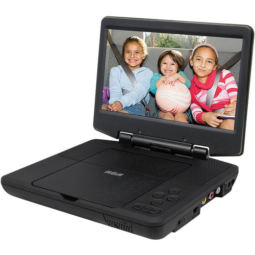 RCA Portable DVD Player 9` Swivel Display, Black Certified Refurbished - DRC98090