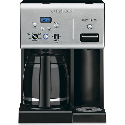 Cuisinart CHW-12 Coffee Plus 12-Cup Programmable Coffeemaker w/ Hot Water, Refurbished