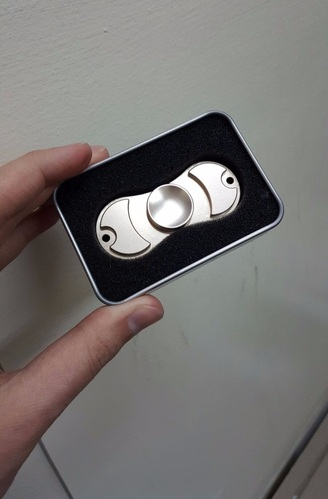 Aluminum 2-Edge Fidget Spinner Toy - Gold