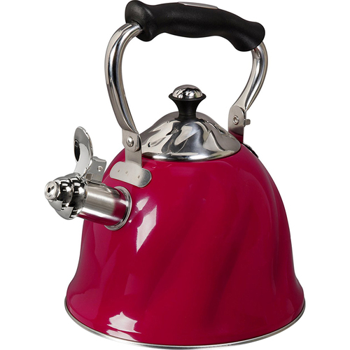 Gibson Alderton 2.3 Qt. Whistling Tea Kettle Red - OPEN BOX