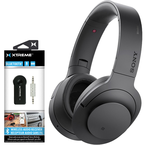 Sony MDR100 Over-Ear Wireless Headphones w/ Bluetooth 2-in-1 Wireless Audio Receiver