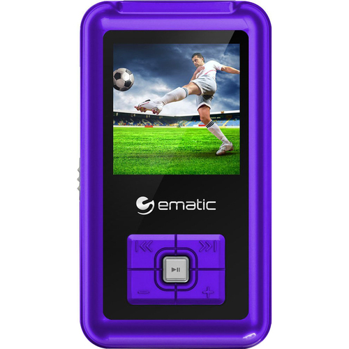 Ematic 1.5-Inch 8GB MP3 Video Player in Purple with FM Tuner - EM208VIDPR