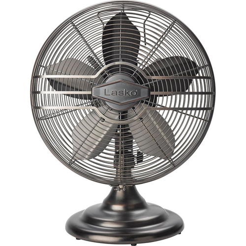 Lasko 12` Classic Metal Table Fan - R12210