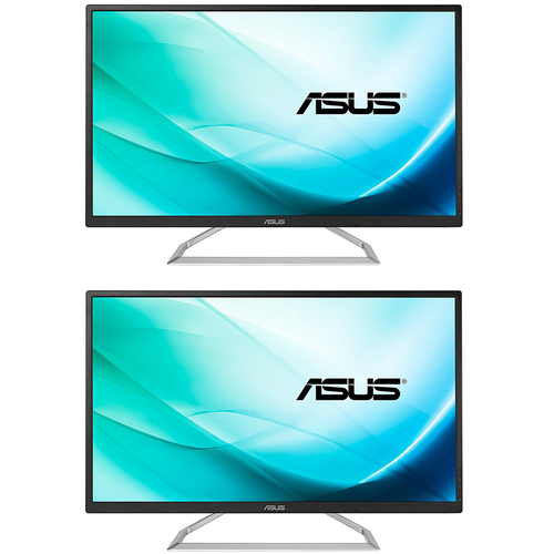 ASUS 31.5 Inch Full HD (1920 x 1080) Monitor w/ 178 Degree Viewing Angle 2 Pack