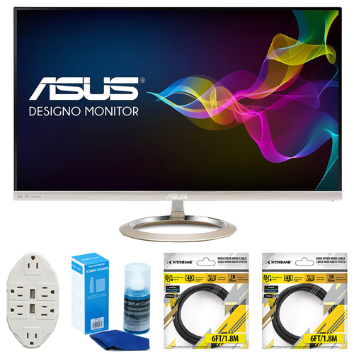 ASUS 27-Inch 4K IPS USB Type-C DP HDMI Eye Care Monitor w/ Accessories Bundle