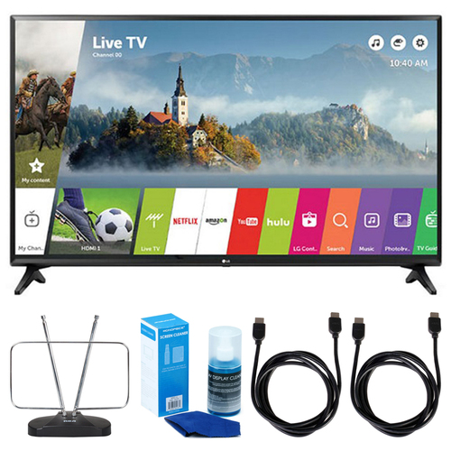 LG LJ550B Series 32` Class Smart LED HDTV (2017 Model) w/ TV Cut The Cord Bundle