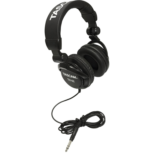 Tascam TH-02-B Closed-Back Professional Headphones (Black) - OPEN BOX