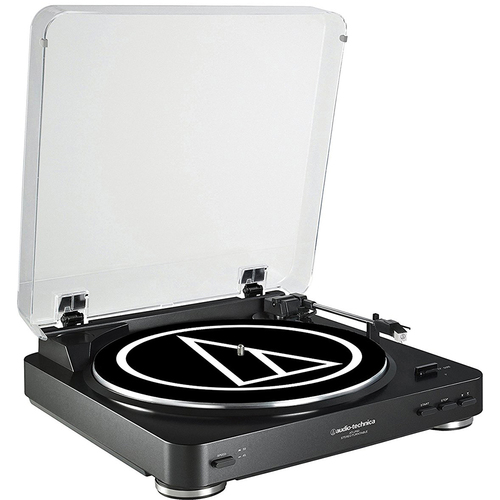Audio-Technica AT-LP60 Fully Automatic Stereo Turntable System- Black Refurbished
