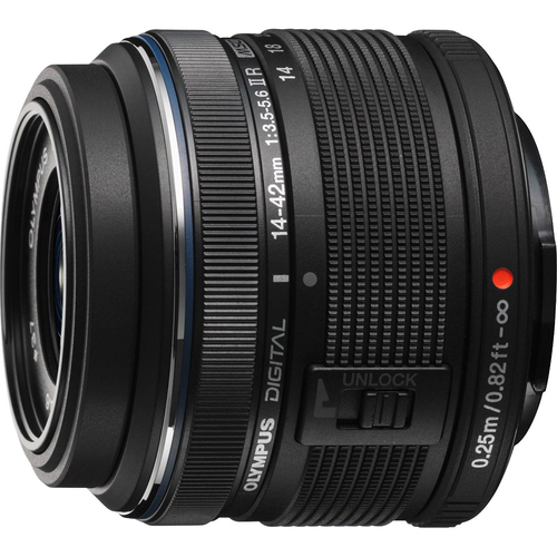 Olympus M.14-42MM F3.5-5.6 2R Zuiko Camera Zoom Lens - Black