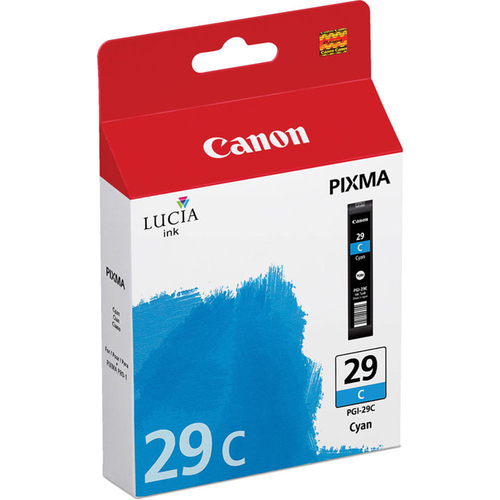 Canon PGI-29 CYAN - LUCIA Series Cyan Ink Cartridge for Canon PIXMA PRO-1 Printer