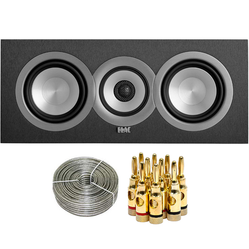 Elac 5 1/4` Concentric 3-Way Center Speaker UC51-BK with Accessories Bundle