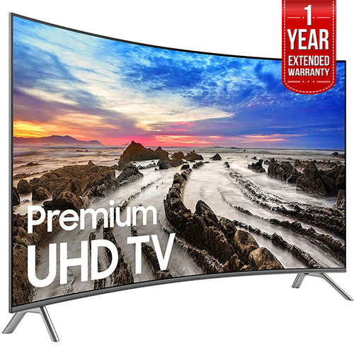 Samsung 64.5` Curved 4K Ultra HD Smart LED TV 2017 Model  with Extended Warranty