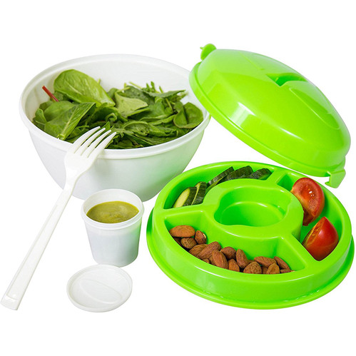 Diamond Home Salad-To-Go Travel Lunch Bowl Kit with Snap Lid SC10203