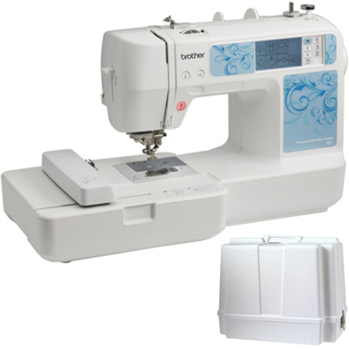 Brother Computerized Embroidery Machine HE1 with Carrying Case