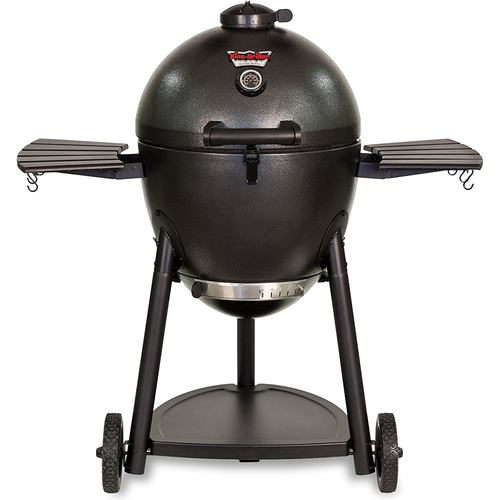 Char-Griller Akorn Kamado Kooker Charcoal Barbecue Grill and Smoker in Black- 16620