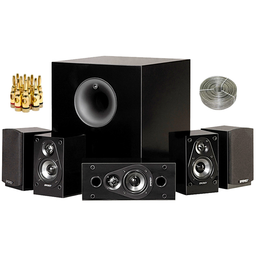 Energy 5.1 Take Classic Home Theater System (Set of Six, Black) 1008207 Audio Bundle