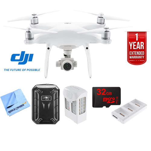 DJI Phantom 4 Advanced Quadcopter Drone Ultimate 2 Battery Bundle (CP.PT.000689)