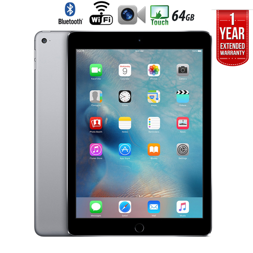Apple iPad Air 2 64GB Wifi + 1 Year Extended WARRANTY - (Certified Refurbished)