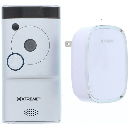 Xtreme Connected Home WiFi  Smart HD Video Doorbell Camera With Free Chime-Silver