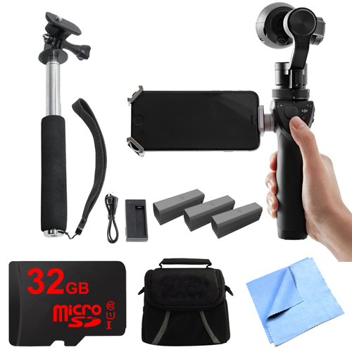 DJI Osmo Handheld 4K Camera and 3-Axis Gimbal Professional Kit With 3 Batteries
