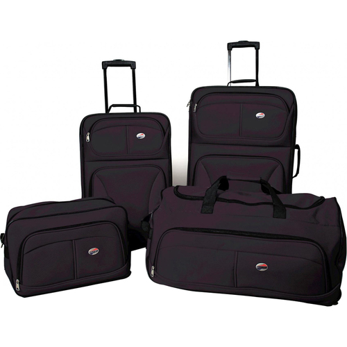 American Tourister Fieldbrook Four-Piece Luggage Set (Black) - OPEN BOX