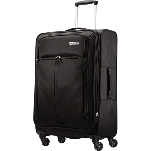 American Tourister Splash Spin LTE Black Spinner 24 Luggage - OPEN BOX