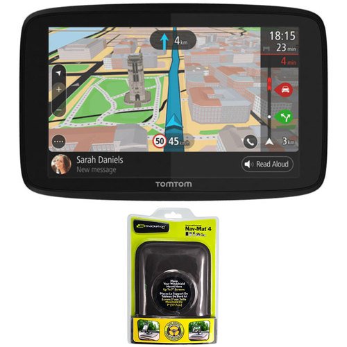 TomTom GO 520 GPS 5` Touch Screen (US-CAN-MEX) with Nav-Mat 4 Portable GPS Dash Mount